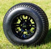 "10"" BULLDOG Black Wheels and 205/65-10 Comfortride DOT Street Tires Combo - Set of 4"