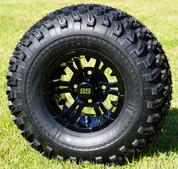 "10"" VAMPIRE Gloss Black Aluminum Wheels and 22x11-10 All Terrain Tires Combo - Set of 4"