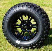 "12"" VAMPIRE Gloss Black Aluminum Wheels and 23x10.5-12 All Terrain Tires Combo - Set of 4"