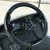 "Club Car Precedent 13"" Aviator-5 Black Grip Golf Cart Steering Wheel w/ Black Aluminum Spokes (Fits all Years)"