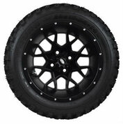 "14"" ITP Hurricane Matte Black Wheels and Slasher 23"" XT Trail AT Tires Combo - Set of 4"