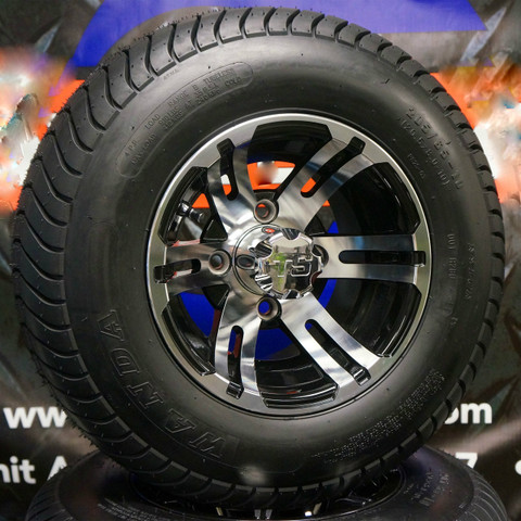 "10"" BULLDOG Wheels and 205/65-10 Low Profile DOT Tires Combo"