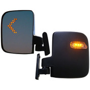LED Turn Signal Golf Cart Mirrors - Fully Adjustable Side Mirrors