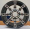 "12"" TEMPEST Gunmetal Wheels and 23"" All Terrain Tires Combo"
