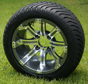 """12"""" TEMPEST Gunmetal Wheels and Low Profile Tires Combo"""