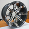 "12"" TEMPEST Gunmetal Wheels and Low Profile Tires Combo"