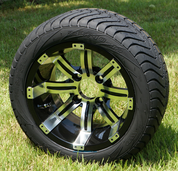 """12"""" TEMPEST Wheels and Low Profile Tires Combo"""