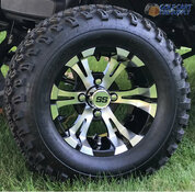 "12"" VAMPIRE Golf Cart Wheels and 23"" All Terrain Tires Combo"