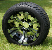 """12"""" VAMPIRE Machined Wheels and Low Profile Tires Combo"""