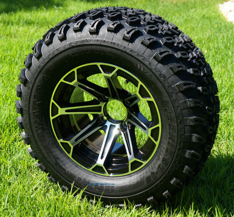 """12"""" FANG Wheels and 23"""" All Terrain Tires Combo"""