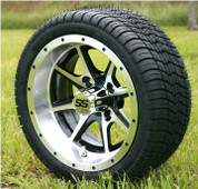 """12"""" TREMOR Machined Wheels and Low Profile 215/35-12 DOT"""