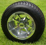"10"" STORM TROOPER Gunmetal Wheels and 205/50-10 Tires"