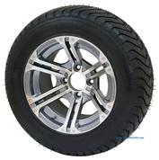 "12"" TERMINATOR Gunmetal Wheels and Low Profile 215/50-12 DOT Tires"