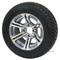 "12"" TERMINATOR Gunmetal Wheels and Low Profile 215/50-12 DOT Tires"