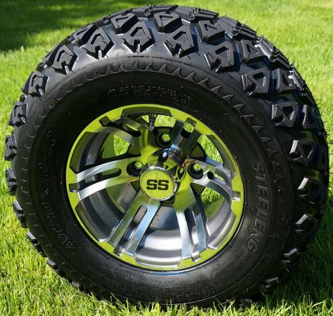 "10"" BULLDOG Gunmetal Wheels and 20x10-10 DOT Tires"
