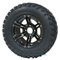 "12"" TERMINATOR Black Aluminum Wheels and 23x10.5-12"" All Terrain Tires"