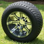 "12"" TEMPEST Gunmetal Wheels and StreetRide DOT Tires"