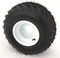 "RHOX RXAL 18x8-8 All Terrain Golf Cart Tires and 8"" WHITE Steel Wheels"