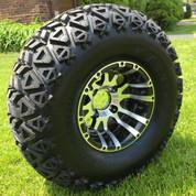 "10"" VENOM Golf Cart Wheels and 22x11-10"" DOT All Terrain Tires Combo"