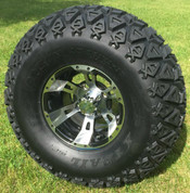 "10"" RUCKUS Machined Wheels and 22x11-10 DOT All Terrain Tires Combo"