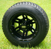 "10"" BULLDOG Black Wheels and 205/50-10 Low Profile DOT Tires Combo"