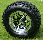 "12"" TRANSFORMER Machined Wheels and 23x10.5-12"" All Terrain Tires Combo"