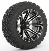"STI HD3 Machined/ Black 14"" Wheels and Slasher GTX All Trail 23x10-14"" DOT Tires"