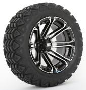 "STI HD3 Machined/ Black 14"" Wheels and Slasher GTX All Trail 23x10-14"" DOT Tires"