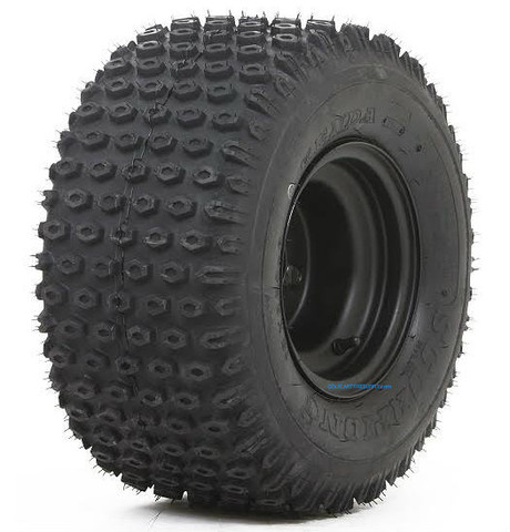 "8"" Black Steel Golf Cart Wheels and 18x9.50-8"" Slasher Knobby Scorpion Tires"