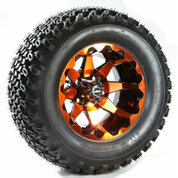 "12"" STI HD6 RADIANT ORANGE Wheels and 23"" Slasher All Terrain Tires"