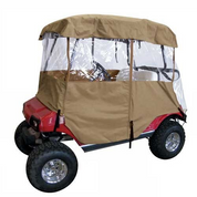 Deluxe Driveable 2-passenger Golf Cart Enclosure - TAN