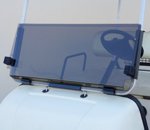 Club Car DS Foldable Golf Cart Windshield (Choose: Tinted or Clear) - 1982-2000.5