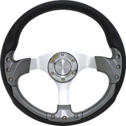 "Club Car DS 14"" Carbon Fiber & Aluminum Golf Cart Steering Wheel Kit"