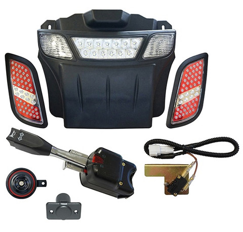 EZGO RXV LED Light Bar Bumper Kit - STREET LEGAL  sc 1 st  Golf Cart Tire Supply & EZGO RXV Street Legal Golf Cart LED Light Bar Bumper Kit | Golf ... azcodes.com