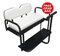 Club Car Precedent Golf Cart Rear Seat Kit - PURE WHITE (Flip Seat w/ Cargo Bed & Free Grab Bar)