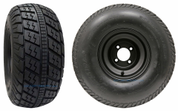 "RHOX RXFG 20x8.5-8"" Golf Cart Tires and 8"" Black Steel Wheels Combo - Set of 4"