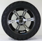 "14"" RUCKUS Machined/ Black Wheels and 23x10.5-12"" All Terrain Tires Combo"