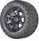 "12"" Madjax ILLUSION Wheels and 23"" All Terrain Golf Cart Tires Combo - Set of 4 - CHROME"
