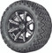 "12"" Madjax ILLUSION Wheels and 23"" All Terrain Golf Cart Tires Combo - Set of 4 - SILVER"