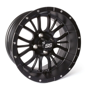 "14"" DIESEL Matte Black Golf Cart Wheels - Set of 4"