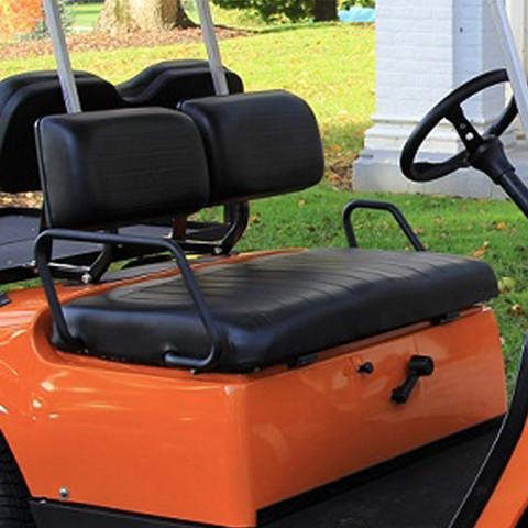 Yamaha G14-G22 Black Vinyl Golf Cart Seat Cover Set