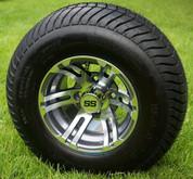 "10"" BULLDOG Gunmetal Wheels and 205/65-10 ComfortRide DOT Tires Combo - Set of 4"
