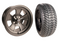 "14"" CRAGAR STREET PRO Wheels and 205/30-14"" DOT Tires Combo - MATTE BLACK"
