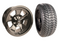 "14"" CRAGAR STREET PRO Wheels and 205/30-14"" DOT Tires Combo - GLOSS BLACK"