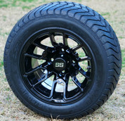 """12"""" BLACK LIZARD Wheels and ComfortRide 215/50-12 DOT Tires"""