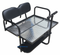Yamaha G14 / G16 / G19 / G22 Golf Cart Rear Seat Kit - BLACK - Flip Seat w/ Cargo Bed & Free Grab Bar