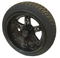 "14"" DOMINATOR Black Aluminum Wheels and 205/30-14"" DOT Tires Combo"