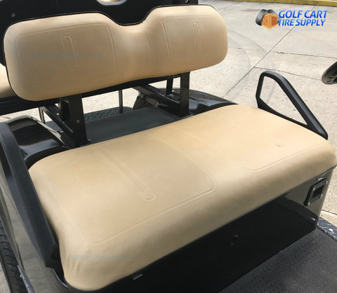 EZ-GO TXT / Medalist TAN Vinyl Golf Cart Seat Cover Set (Fits 1994-Up) - Matches Factory Color