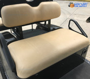 EZ-GO TXT / Medalist TAN Vinyl Golf Cart Seat Cover Set (Fits 1994-Up) - Matches Factory Color