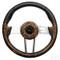 "Club Car DS 13"" Aviator4 Wood-Grain Steering Wheel w/ Aluminum Spokes"